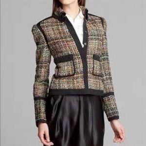 Pink Tartan wool blend tweed jacket